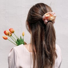 [2개세트][2color] 새콤달콤 복숭아맛 포도맛 곱창 머리끈 스크런치