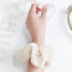 [3개세트][3color] 더블라인 여리여리 쉬폰 청순 곱창 머리끈 세트