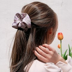 [1+1][4color]  꽃밭 가득 플라워 헤어 곱창 머리끈