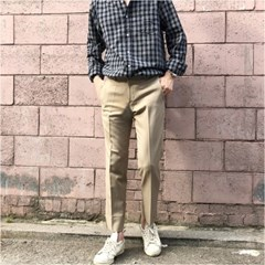 남자 직장인 회사 스판 절개 옆트임 핏좋은 슬랙스