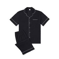 남성반팔잠옷 홈웨어 블랙수트 반소매 상하 3137(남성)