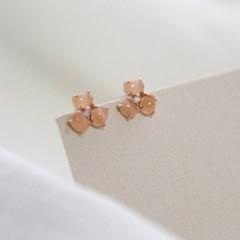 제이로렌 02M02703 피치문스톤 꽃잎 로즈골드 귀걸이_(1267540)