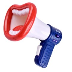 입술모양 확성기 음성변성기 웃음소리 남성목소리 여성목소리 기계음