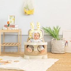 에시앙 아기의자 전용 쿨매쉬 래빗 2종세트 (레몬)_(1006545)