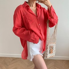 여자 여름 바캉스룩 여행 핏좋은 데일리 루즈핏 셔츠