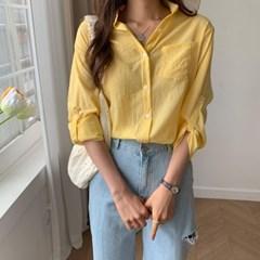 여자 여름 데이트룩 색감좋은 데일리 여리 루즈핏 셔츠
