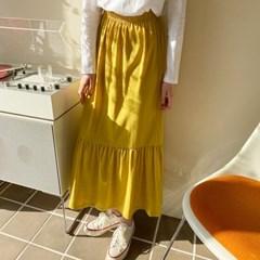 여자 여름 편한 화사한 프릴 데이트룩 20대 30대 롱스커트