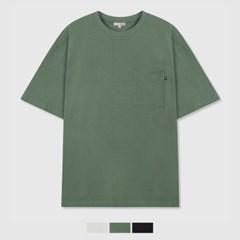 루즈핏 포켓 반팔 티셔츠_SPRWB24C15