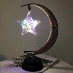 초승달 스타클링 LED 무드등(레인보우) 무선 취침 테이블조명
