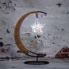 초승달 스타클링 LED 무드등(레인보우) USB 취침 테이블조명