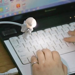우주비행사 LED USB 라이트 노트북 독서 USB램프