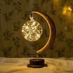초승달 플라즈마 LED 무드등(웜) 건전지 취침 테이블조명