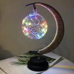초승달 플라즈마 LED 무드등(레인보우) 무선 수면 테이블조명