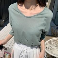 여자 여름 색감좋은 편한 베이직 기본 이너 7부 반팔티