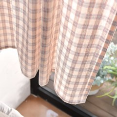 조이 워싱체크 작은창커튼 2color_(2511091)