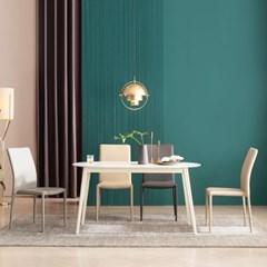 우유니 U89 세라믹 라운드 4인 식탁세트(의자)