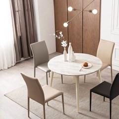 우유니 U89 대리석 원형 4인 식탁세트(의자)