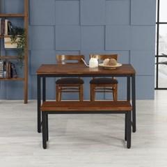 텐스페이스 해브 4인용 원목식탁 벤치 의자세트 HE33R