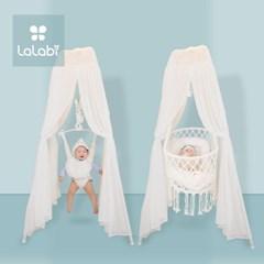 라라비 슈가스탠드 2in1 점퍼루 바운서 변신 아기 흔들 침대 요람