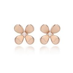 [14K Gold] 행운의 꽃말 해피니스 네잎클로버 귀걸이