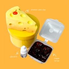 [젤시스슬라임] 치즈케이크 / 글루올지글리 + 클리어슬라임 270ml