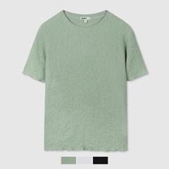 링클 셔링 슬림핏 티셔츠_SPRAB24W03