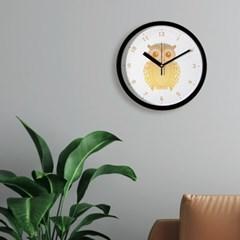 브론즈하우스 CFC-036 황금부엉이 풍수 프레임 벽시계(무소음)