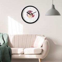 브론즈하우스 CFC-037 로즈부엉이 풍수 프레임 벽시계(무소음)