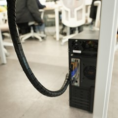 컴퓨터 선정리 케이블 고정 홀더 스네이크 클립 커버