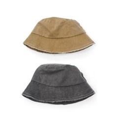 빈티지 워싱 봄 여름 여자 벙거지 버킷햇 모자 블랙 베이지