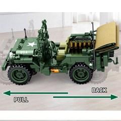 셈보블럭 레고호환 밀리터리 윌리스 MB 지프 군용트럭 탱크 장난감