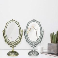 탁상용 골드 실버 진주큐빅 인테리어 양면 거울