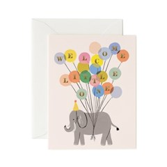 Welcome Elephant Card 베이비 카드_(458207)