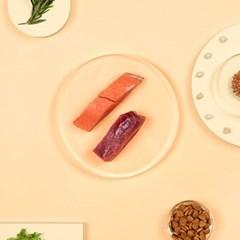 브이랩 커스터밀 반습식 고급사료 맞춤영양사료 연어&참치 300g [1+1
