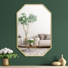 옥타곤 와이드 벽거울 40x60cm 화장대거울