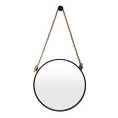 빈티지 스트랩 벽거울(60cm) (블랙)  인테리어거울