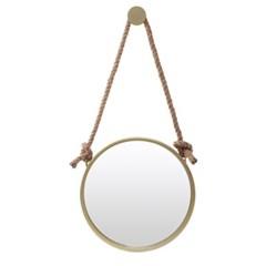빈티지 스트랩 벽거울(40cm) (골드) 걸이식 거실거울