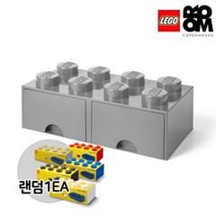 [레고스토리지]레고서랍형8구-그레이(추가구성-미니8구)