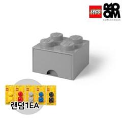 [레고스토리지]레고서랍형4구-그레이(추가구성-자석2P)