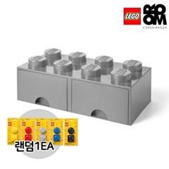 [레고스토리지]레고서랍형8구-그레이(추가구성-자석2P)