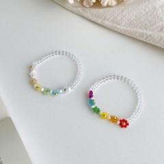 비즈 꽃 플라워 데일리 패션 B1013 팔찌