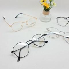 실테 블랙 골드 도수없는 가벼운 동그란 패션 안경
