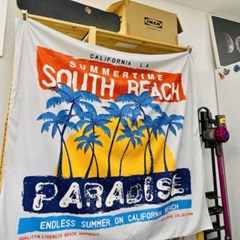 감성디자인 대형 패브릭 포스터 130cm x 150cm - 파라다이스