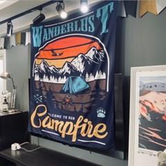 감성디자인 대형 패브릭 포스터 130cm x 150cm - 캠프파이어