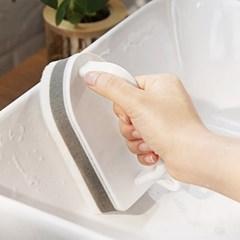 손잡이 탈부착 욕실 화장실 스펀지 청소솔