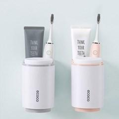 욕실 화장실 치약 칫솔 양치 컵 마그넷 더블컵홀더