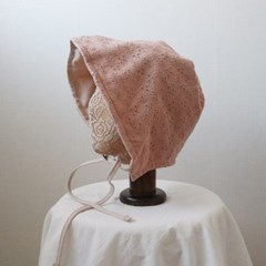 펀칭 플라워 양면 보넷 와이어 벙거지 모자 버킷햇 (3color)