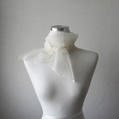 데일리 자수 망사 시스루 레이스 얇은 봄 여름 여성 스카프 (2color)