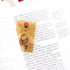 24K 골드 순금박 카드 민화 어변성룡도카드 승진 시험합격