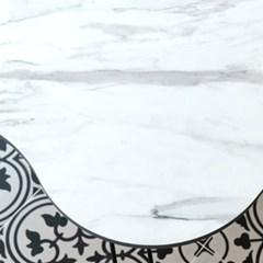 제이픽스 마블 접이식 테이블 좌식 밥상 피넛 블랙